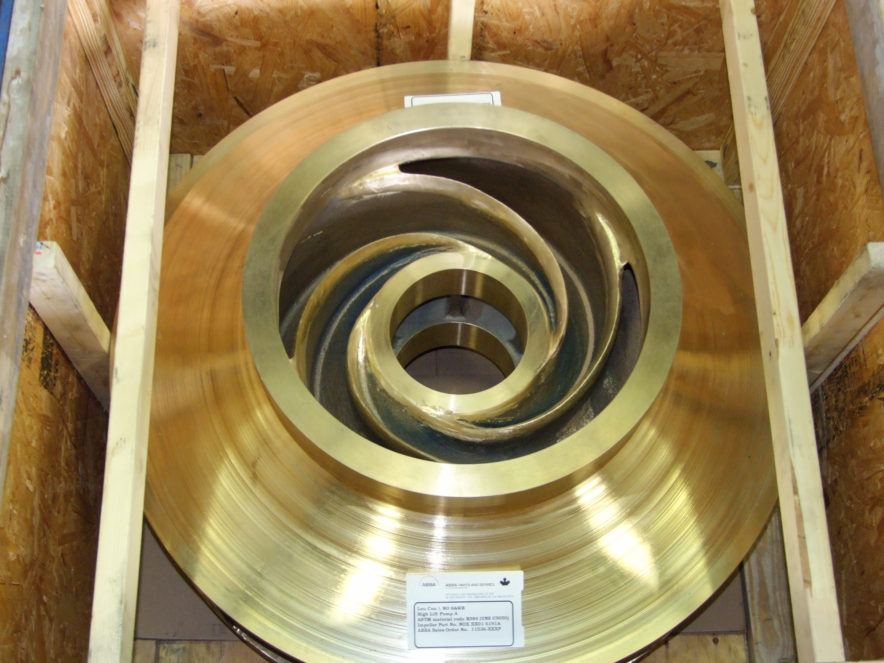 "40"" Bronze IMPELLERS – City Of New Orleans – LA"