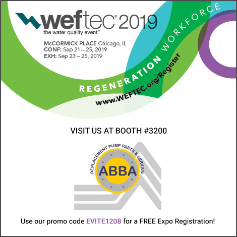 #WEFTEC2019 Use ABBA's Promo Code For FREE Registration!